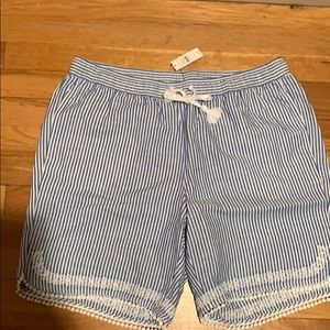 Talbots blue striped shorts
